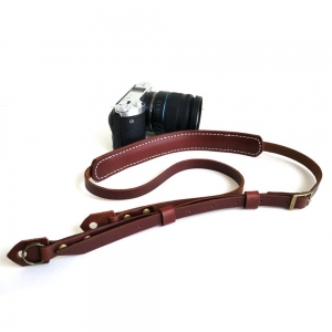 Personalized Leather Camera Strap for Photographer