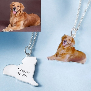 Personalized Pet Color Photo Necklace